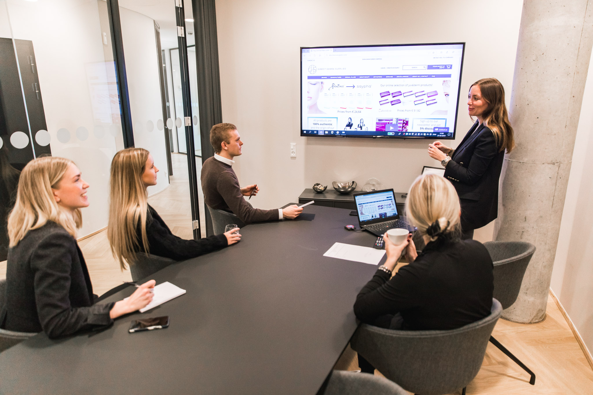 FAQ team meeting at Direct Derma Supplies